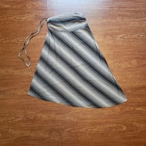 Patagonia asymmetrical striped skirt